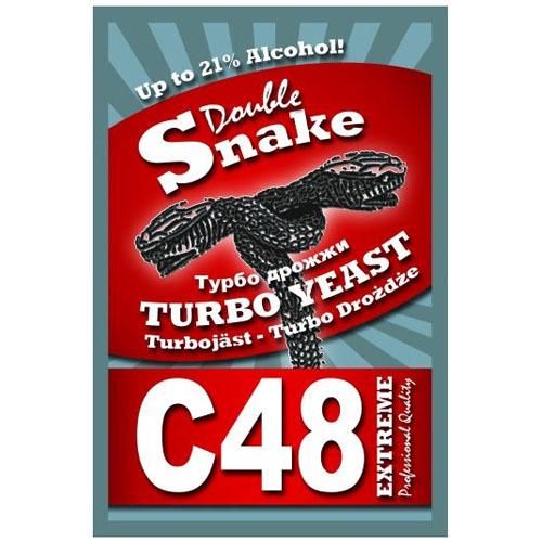 Спиртовые турбо дрожжи Doublesnake C48
